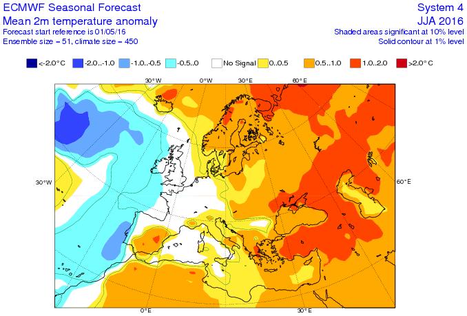 Image d'illustration pour Prévision saisonnière : L'été 2016 sera-t-il chaud ?