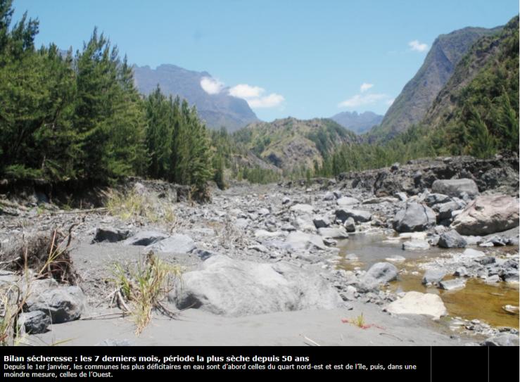Image d'illustration pour La Réunion entre chaleur, sécheresse, pluie et givre