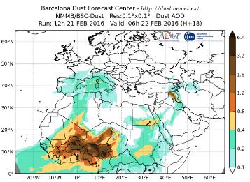 Image d'illustration pour Sable et poussière venus d'Afrique dans le ciel de France