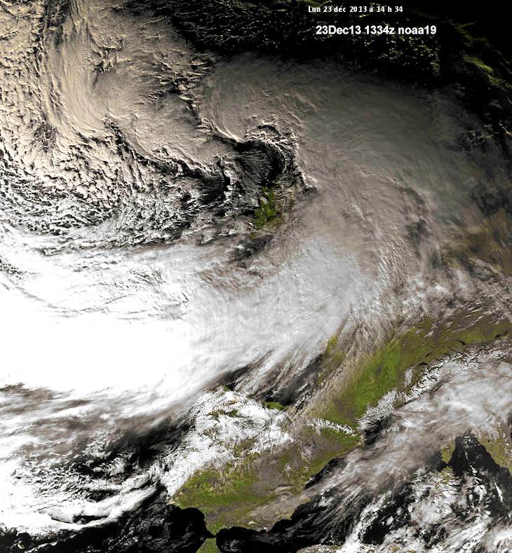 Image d'illustration pour Tempête Dirk vue du satellite