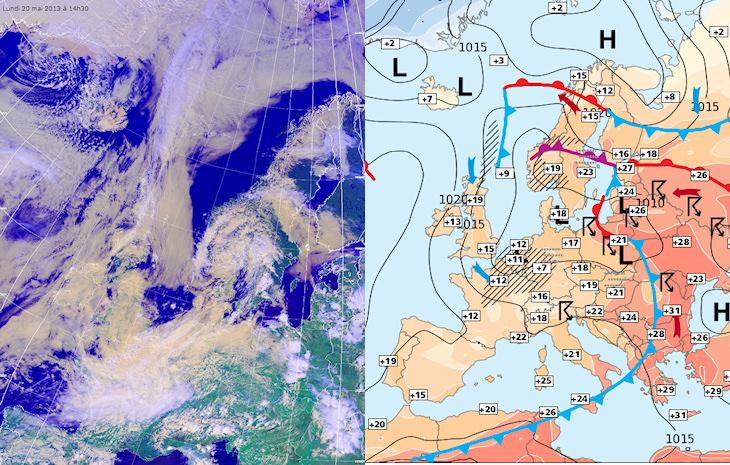 Image d'illustration pour Pluie et fraîcheur au Nord de la France - Prévisions pessimistes (sat)