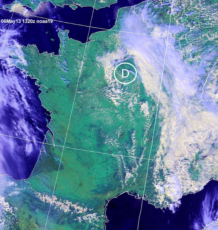 Image d'illustration pour Une (petite) goutte froide sur l'Ile de France (sat)