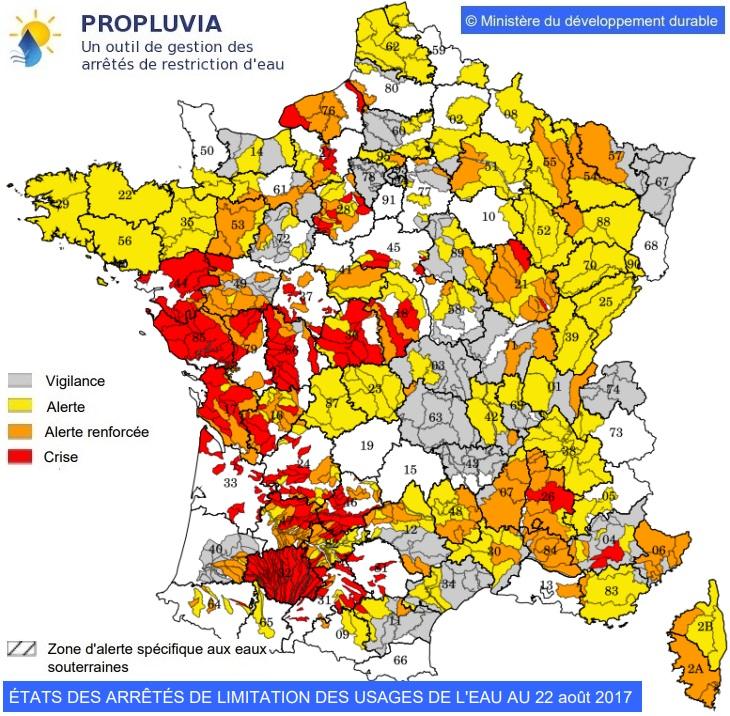 Image d'illustration pour Des arrêtés sécheresse sur la majeure partie de la France