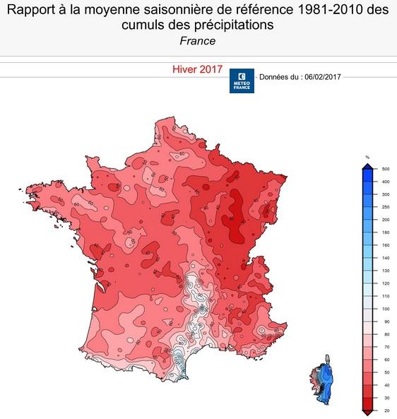 Image d'illustration pour Un début février arrosé mais les déficits en pluie persistent