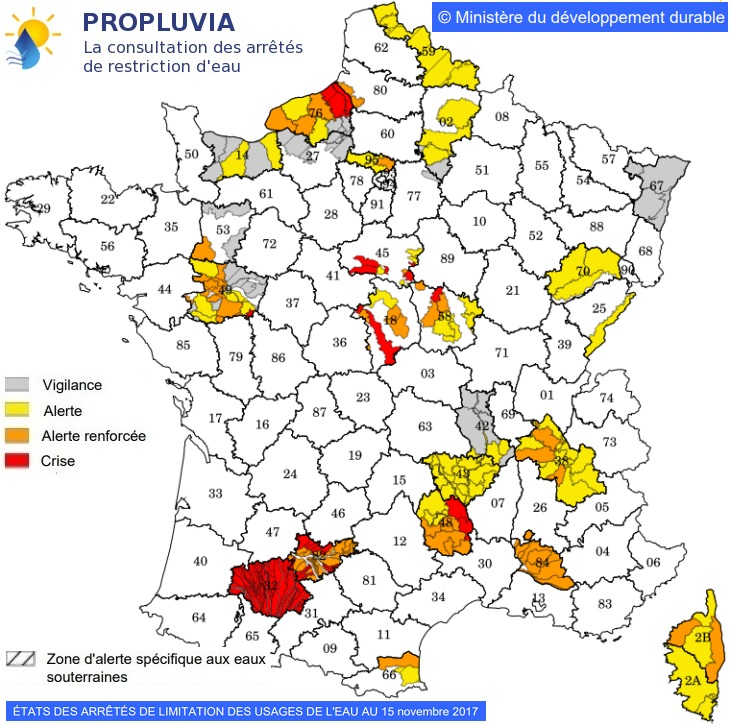 Image d'illustration pour Encore des arrêtés sécheresse sur le quart de la France