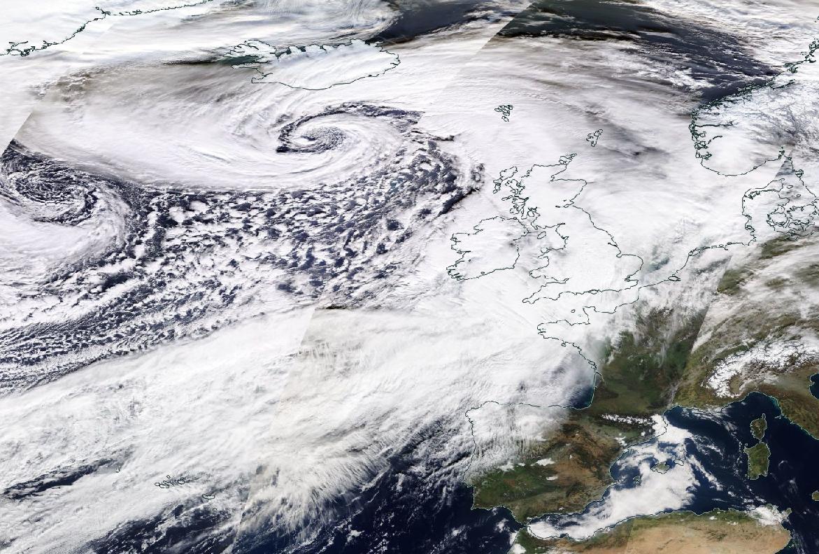 Image d'illustration pour Tempête Dennis : vents violents, fortes pluies et douceur au programme