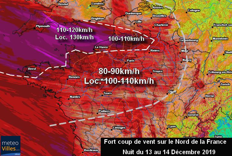 Image d'illustration pour Bilan de la tempête du 13 Décembre et coup de vent la nuit prochaine
