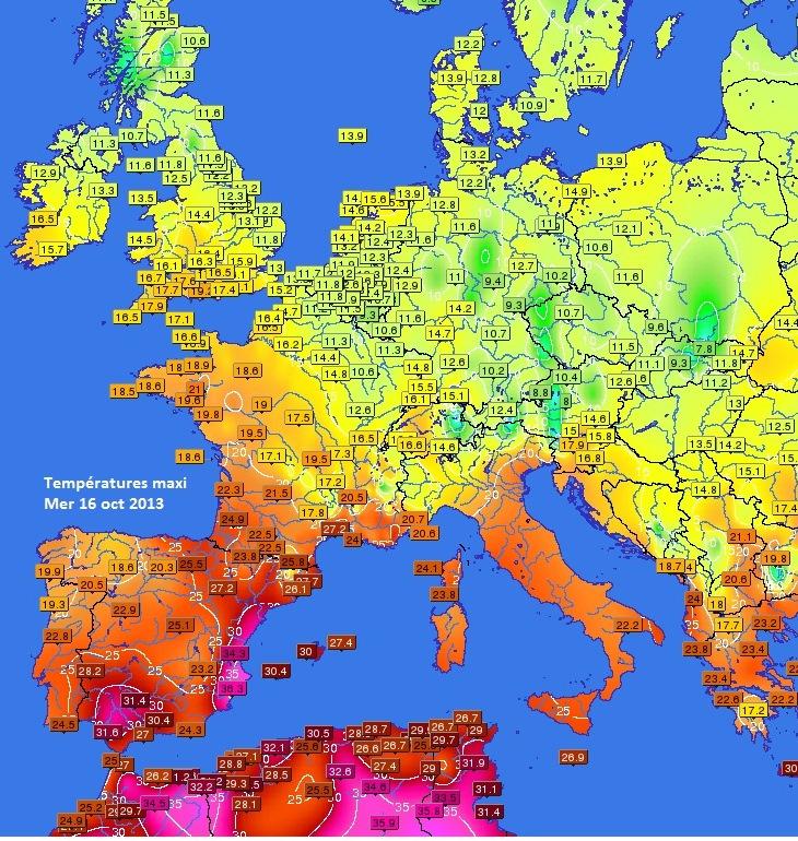 Image d'illustration pour Chaleurs tardives au Sud et en Espagne