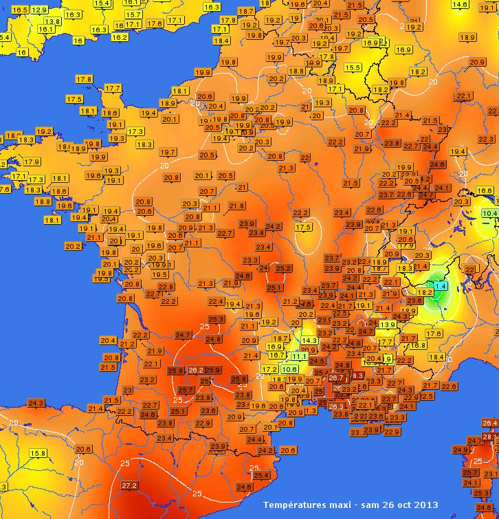 Image d'illustration pour Nouveaux records décadaires de chaleur
