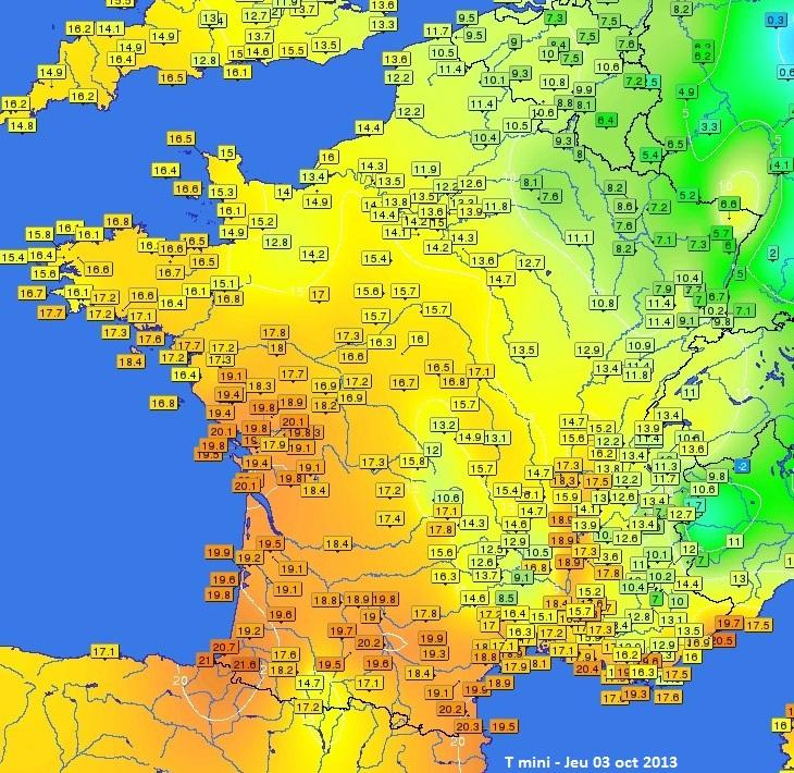 Image d'illustration pour Records de douceur sur l'Ouest de la France
