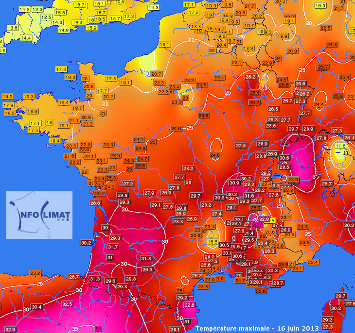 Image d'illustration pour Suivi de la vague de chaleur en Europe de l'Ouest