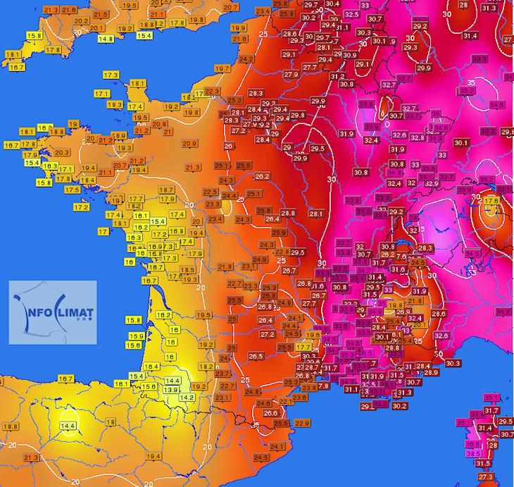 Image d'illustration pour Fortes chaleurs en France & en Europe (records en Corse)