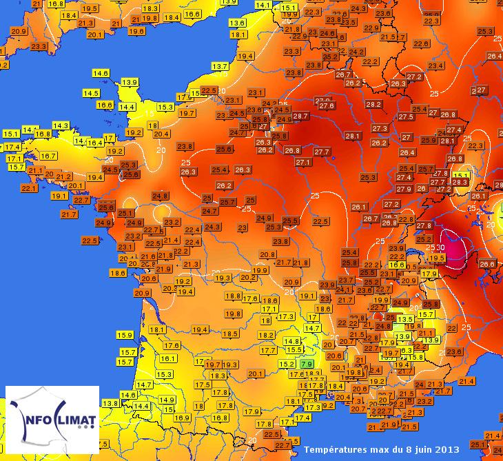 Image d'illustration pour Chaleur au Nord Est - Fraîcheur au Sud Ouest