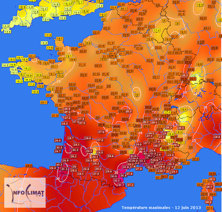 journee la plus chaude en france