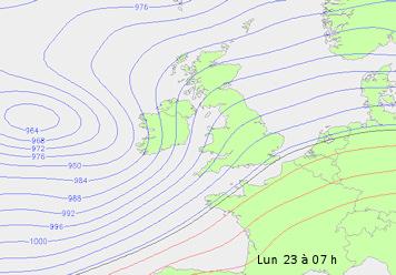 Image d'illustration pour Tempête Dirk : vers des pressions atmosphériques remarquables
