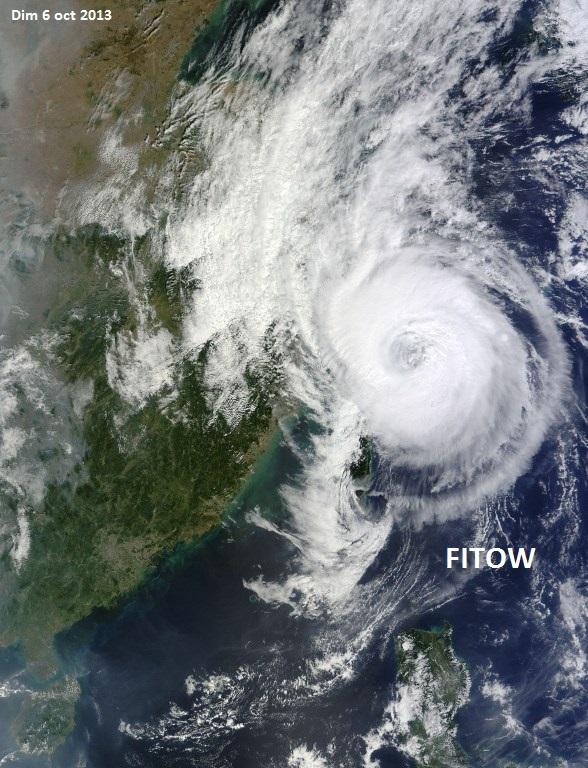 Image d'illustration pour Tempête tropicale Fitow / Quedan (Taïwan - Chine)