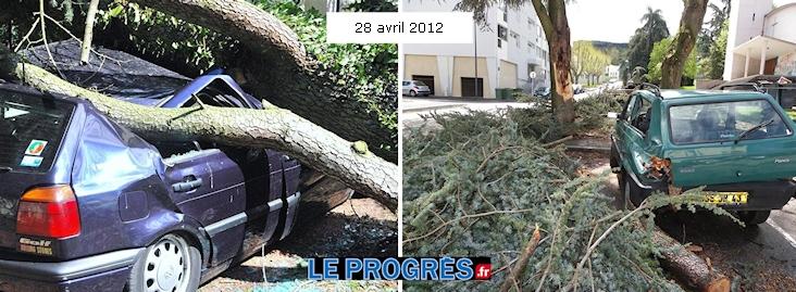 Image d'illustration pour Il y a un an, le 28 avril 2012 : la tempête en Rhône-Alpes