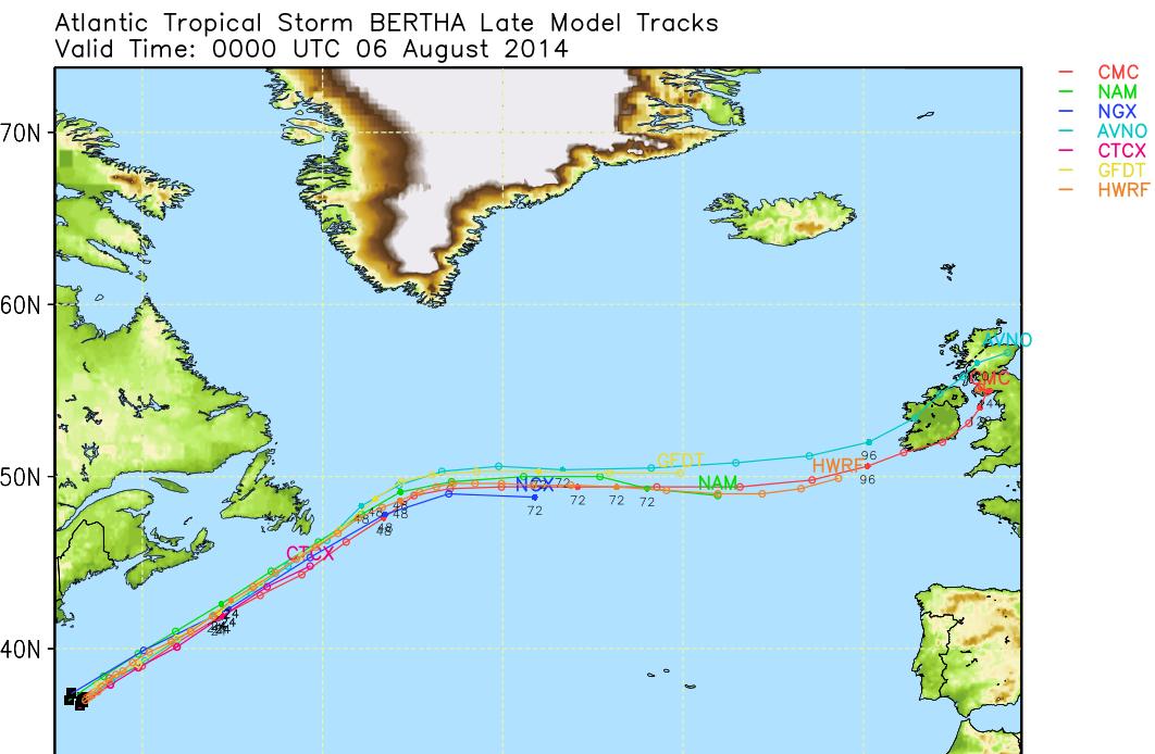 Image d'illustration pour Tempête tropicale Bertha : de l'Atlantique vers l'Europe