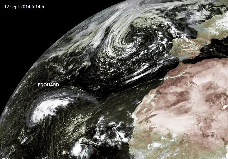 Image d'illustration pour Cyclone Edouard sur l'Atlantique : tempête tropicale puis ouragan