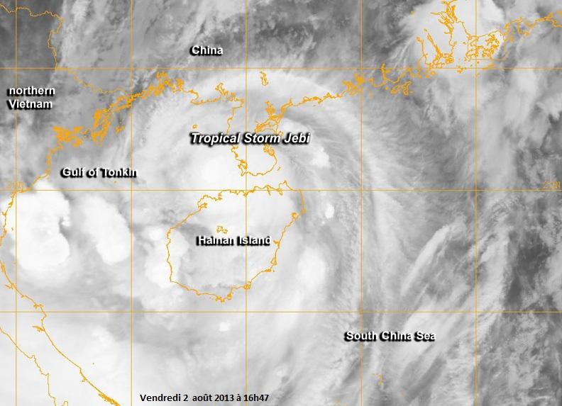 Image d'illustration pour Ex tempête tropicale Jebi (Chine - Vietnam)