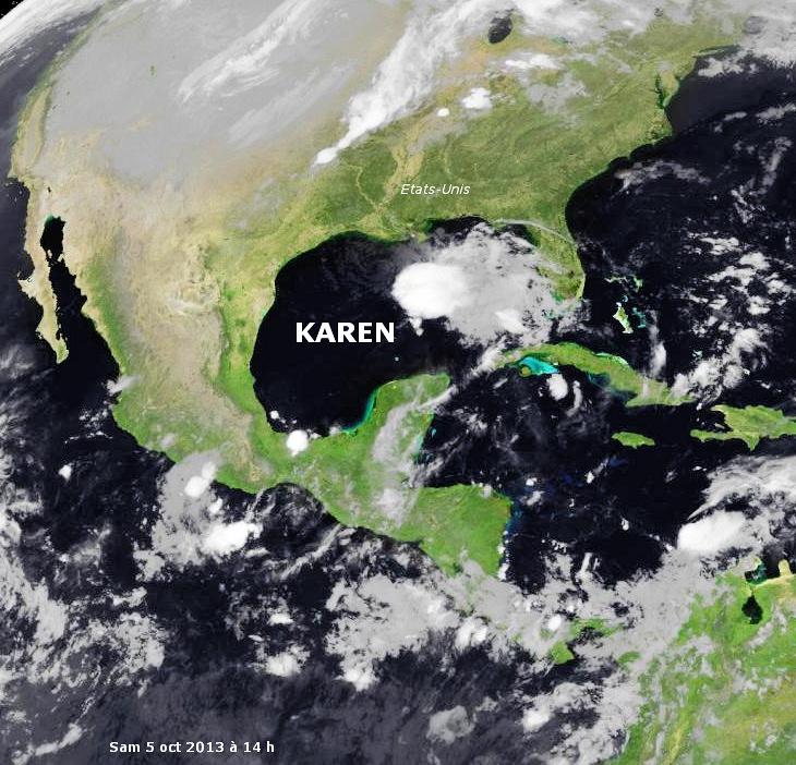 Image d'illustration pour Tempête tropicale Karen (Golfe du Mexique - Etats-Unis)