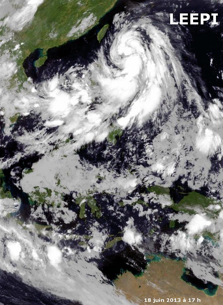 Image d'illustration pour Tempête tropicale Leepi (Philippines - Okinawa - Japon)