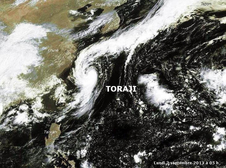 Image d'illustration pour Tempête tropicale Toraji (Corée du Sud - Japon)