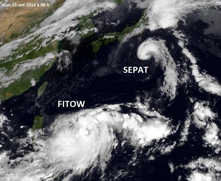 Image d'illustration pour Tempête tropicale Fitow / Quedan (Pacifique - Japon)