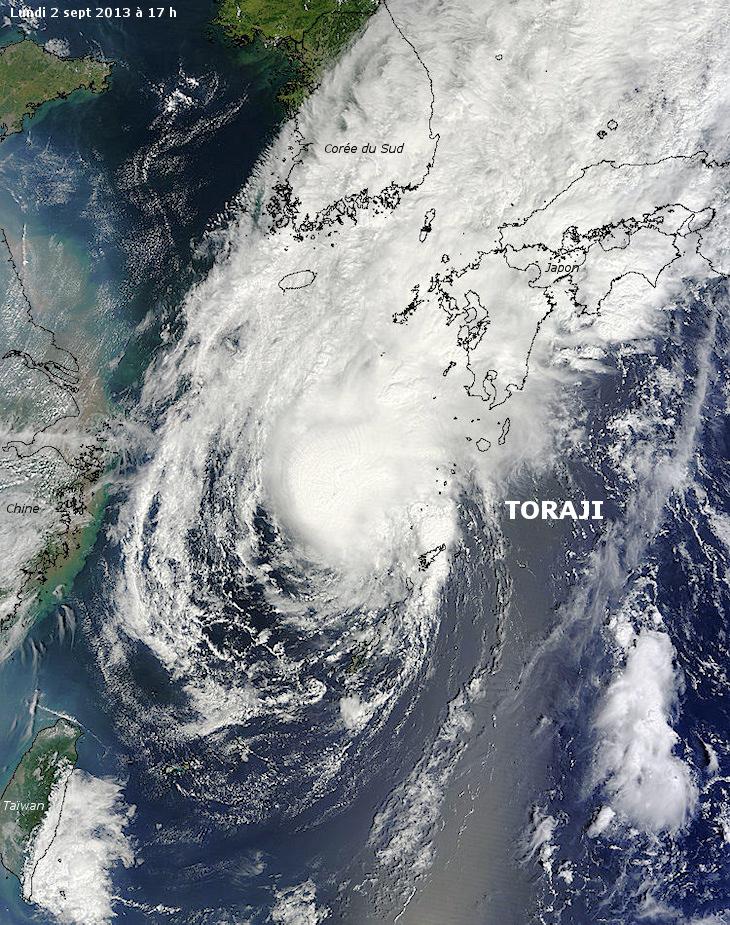 Image d'illustration pour Ex tempête tropicale Toraji (Japon)