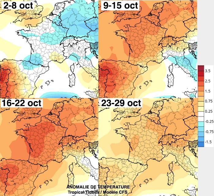 Image d'illustration pour Prévision mensuelle : enfin de la pluie en octobre ?