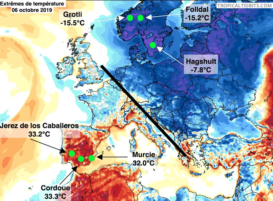 Image d'illustration pour L'Automne en Europe : théâtre d'importants contrastes thermiques