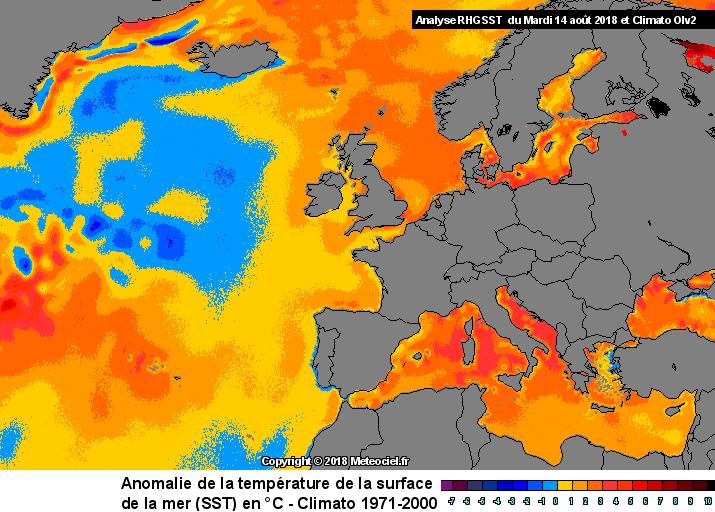 Image d'illustration pour Température de l'eau anormalement élevée en Europe