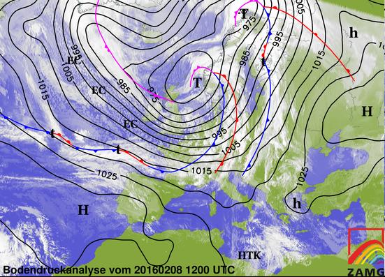 Image d'illustration pour Tempête et coup de vent Ruzika lundi 8 février