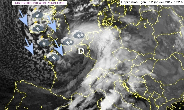 Image d'illustration pour La tempête Egon précède la neige et la vague de froid