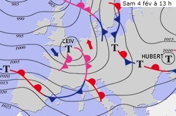 Image d'illustration pour Bilan des tempêtes Kurt, Leiv et Marcel début février