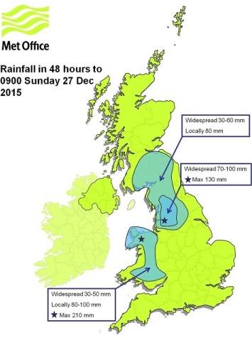 Image d'illustration pour Inondations et tempête Frank sur les Iles Britanniques
