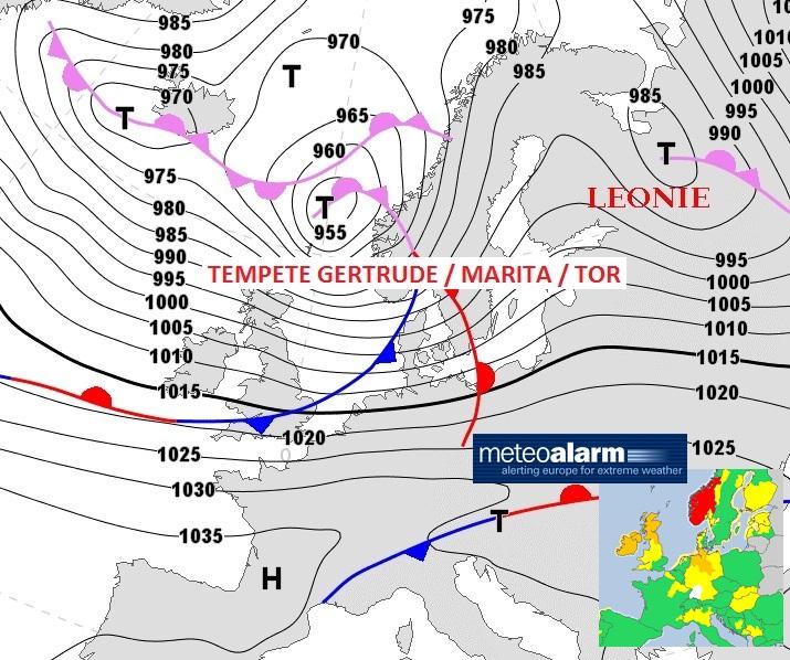 Image d'illustration pour Tempête Gertrude - Pluie, vent, neige et avalanche ce week-end