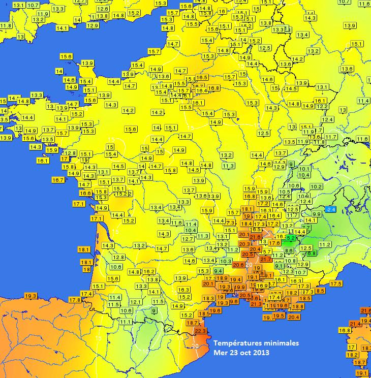 Image d'illustration pour Douceur nocturne et chaleur sur la France (suite)