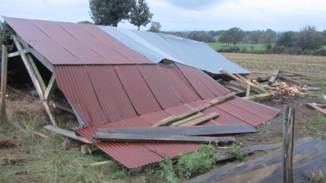 Image d'illustration pour Probable tornade à  Landivy et de Fougerolles-du-Plessis en Mayenne