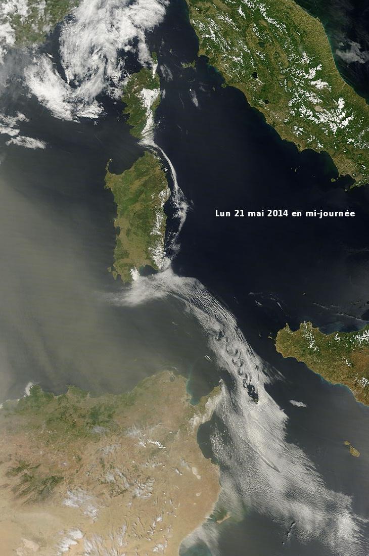 Image d'illustration pour Tourbillons de Bénard-Von Karman entre Sicile et Tunisie