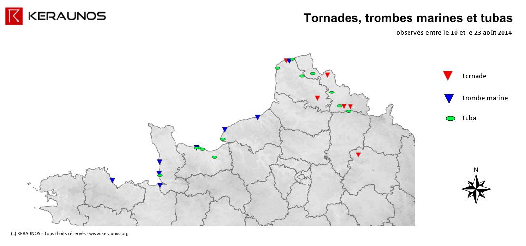 Image d'illustration pour Tornade à Wambrechies dans le Nord - Trombe au large du Calvados - Tubas