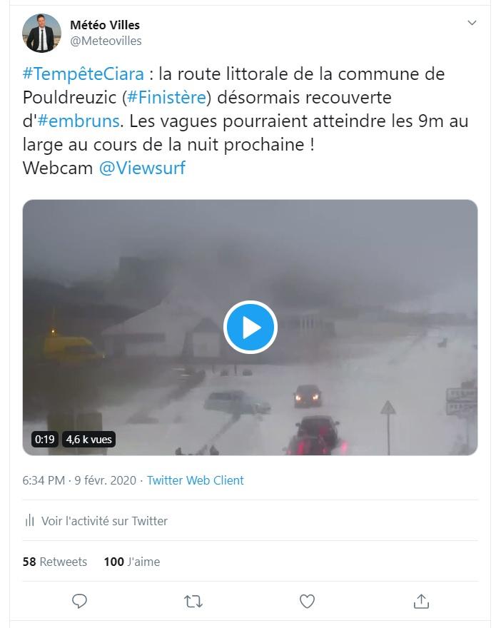 Image d'illustration pour Tempête Ciara : bilan des rafales observées en France