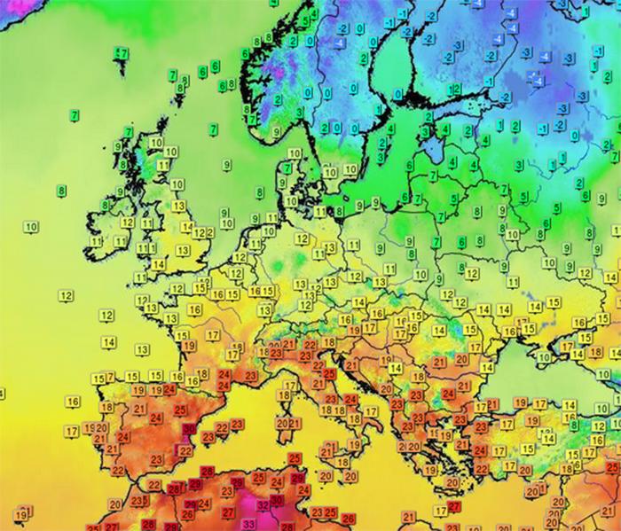 Meteo Europe Carte Temperature.Hiver Ou Ete L Europe Face Aux Contrastes De Temperature