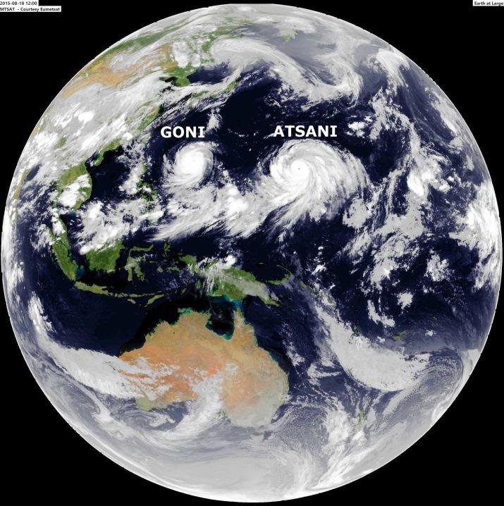 Image d'illustration pour Typhons Goni et Atsani sur le Pacifique