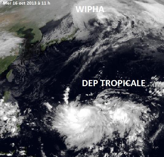 Image d'illustration pour Typhon Wipha (Japon - île d'Izu Oshima)