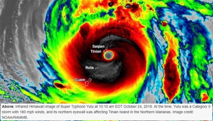 Image d'illustration pour Super typhon Yutu sur les Iles Mariannes - Pire cyclone en 2018
