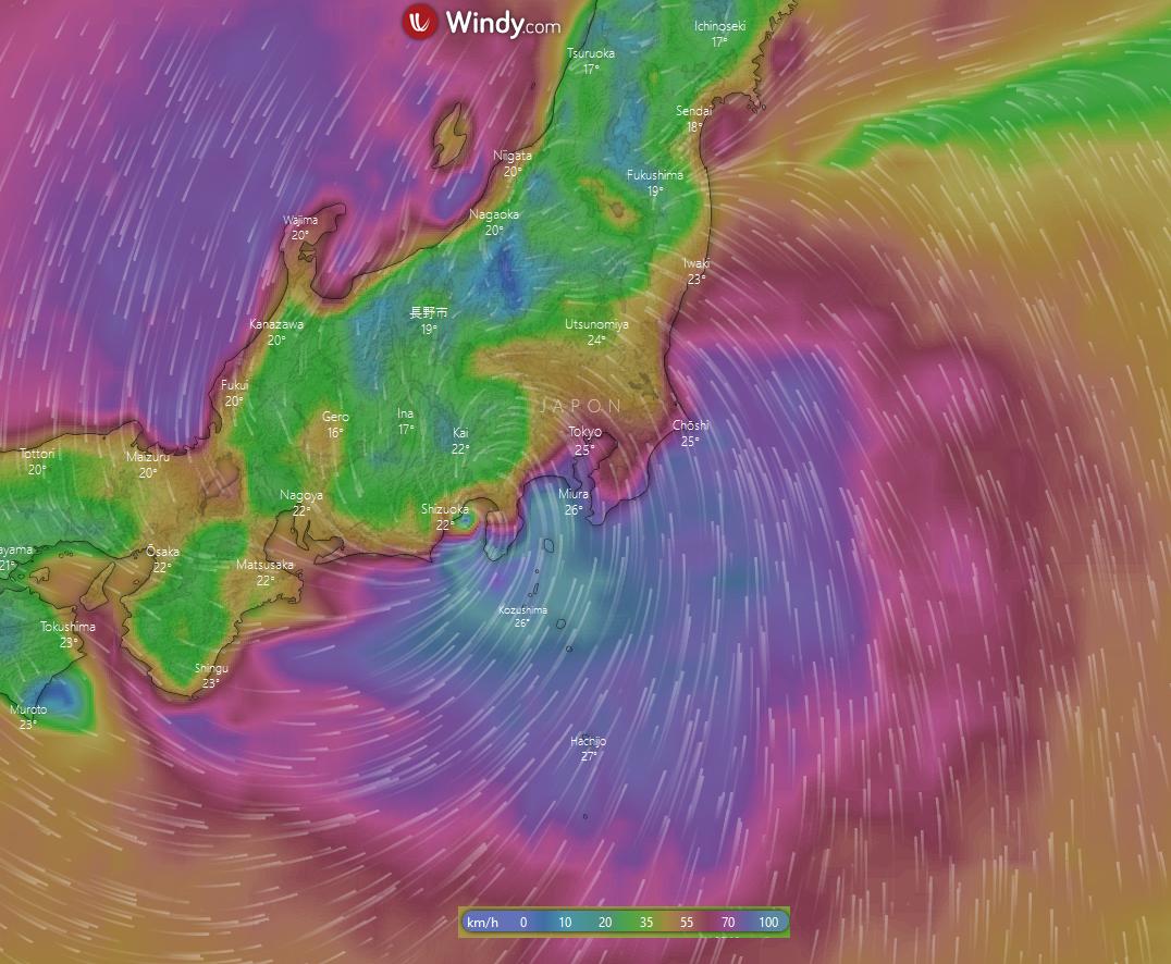 Image d'illustration pour Le super typhon Hagibis menace le Japon