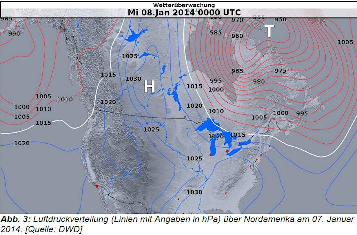 Image d'illustration pour Bilan de la vague de froid et de neige en Amérique du Nord