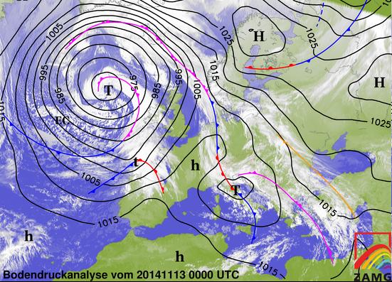Image d'illustration pour Dépression secondaire : vent fort en Bretagne