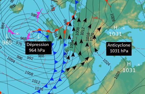 Image d'illustration pour Vent fort et risque de tempête sur la France